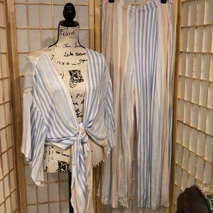 L'ATISTE 2 piece striped pants set size L
